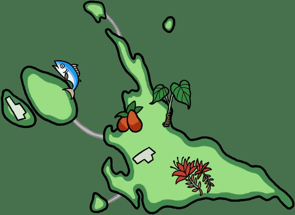 宮古島のマップ